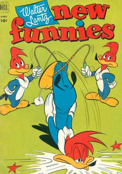 New Funnies 182 - Walter Lantz - Ducks - Skipping Rope - Fall - Stars