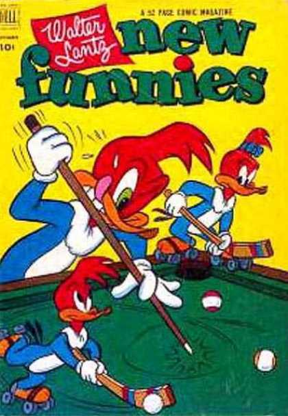 New Funnies 187 - Walter Lantz - Woody Woodpecker - Billiards - Hockey - Kids