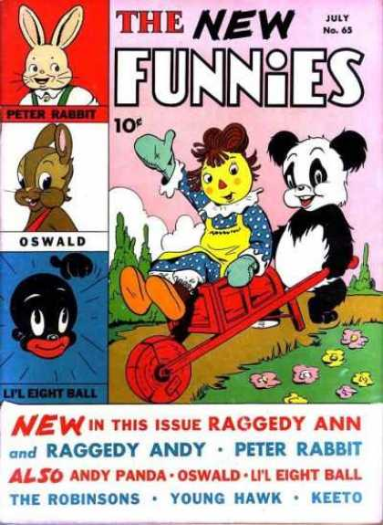 New Funnies 65 - Petter Rabbit - Oswald - Lil Eight Ball - Raggedy Ann - Andy Panda