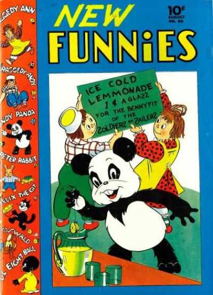 New Funnies 66 - Raggedy Ann - Raggedy Andy - Peter Rabbit - Felix The Cat - Andy Panda