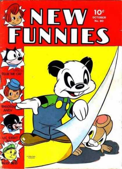 New Funnies 80 - Turn The Page - Felix The Cat - The Wonderful Wonderful Cat - Magic Bag Of Tricks - Hide And Seek