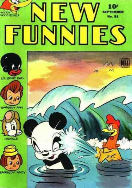 New Funnies 87 - Lil Eight Ball - Raggedy Ann - Oswald - Water - Panda