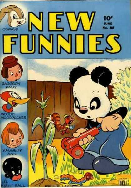 New Funnies 88 - Oswald - Woody Woodpecker - Raggedy Andy - Raggedy Ann - Lil Eight Ball