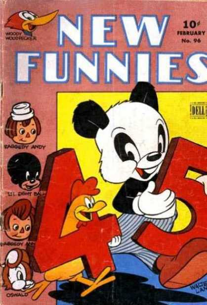 New Funnies 96 - Woody Woodpecker - Raggedy Andy - Lil Eight Ball - Raggedy Ann - Oswald