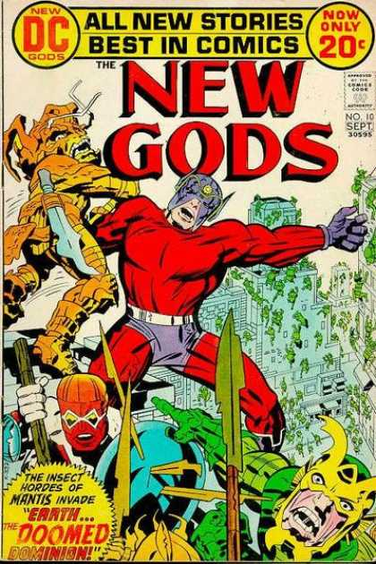 New Gods 10 - All New Stories - Best In Comics - New Dc Gods - Now Only 20c - New Gods - Jack Kirby