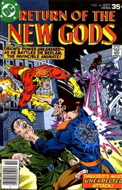 New Gods 14 - New Gods - Orion - Unexpected Attack - Bedlam - Invincible - Richard Buckler, Walter Simonson