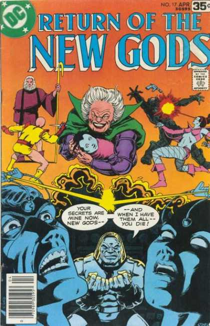 New Gods 17 - Return Of The - No 17 Apr - Your Secrets Are Mine Now - You Die - And I Have Them All - Jim Starlin