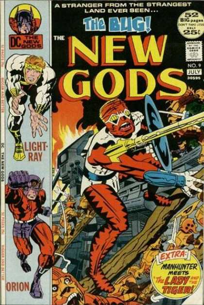 New Gods 9 - The Bug - Light Ray - Orion - Shield - Fire - Jack Kirby, Keith Giffen