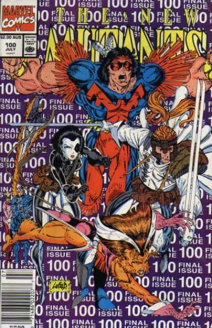 New Mutants 100 - Metamorphis - Overmanly - Indian Superman - Native American Feathered Superhero - Swordfights With Mutant Kittens - Rob Liefeld