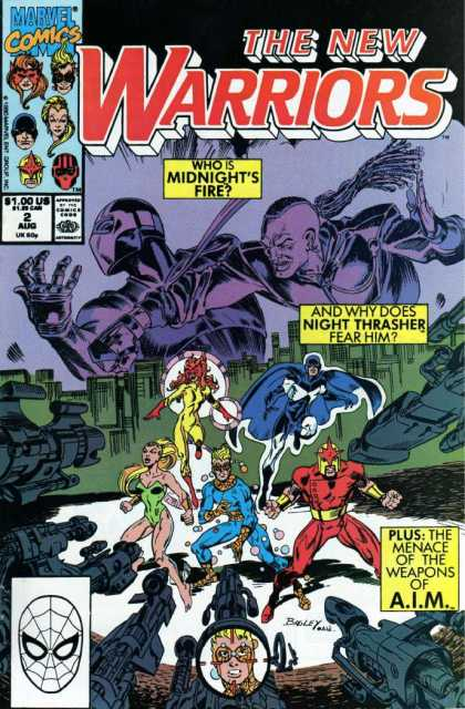 New Warriors 2 - Who Is Midnights Fire - Buildings - Superheroes - Fist - Flying Heroes - Al Williamson, Mark Bagley