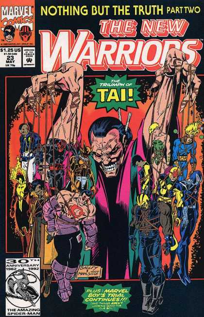 New Warriors 23 - No 23 - Nothing But The Truth Part Two - The Triumph Of Tai - Marvel Comics - Bagley - Mark Bagley