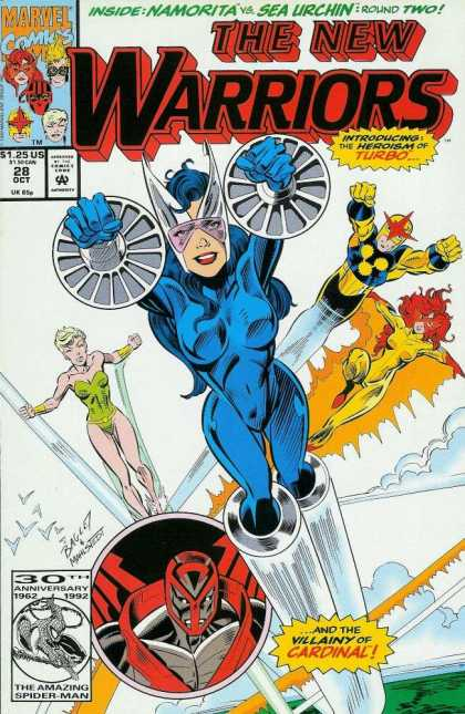 New Warriors 28 - Insidenamorita - Sea Urchin - The New Warriors - Marvel Comics - Superheroes - Mark Bagley