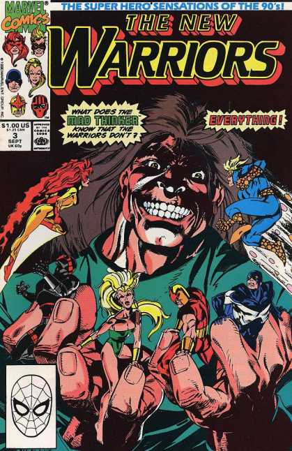 New Warriors 3 - Monster - People - Hair - Fight - Night - Darick Robertson, Mark Bagley
