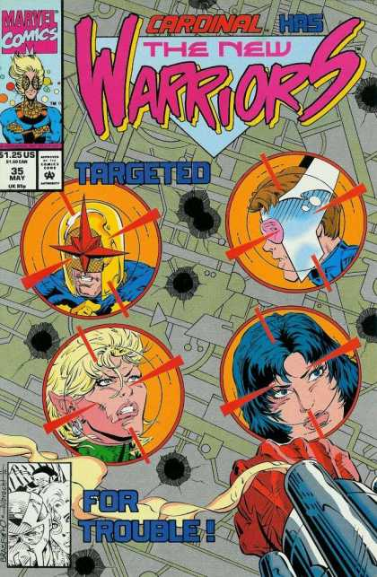 New Warriors 35 - Heros - Cardinal - May Issue - Targeted - Marvel Comics