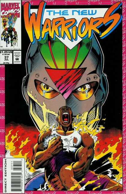 New Warriors 37 - Tear - Fire - Marvel Comics - White Tank Top - Blue Jeans