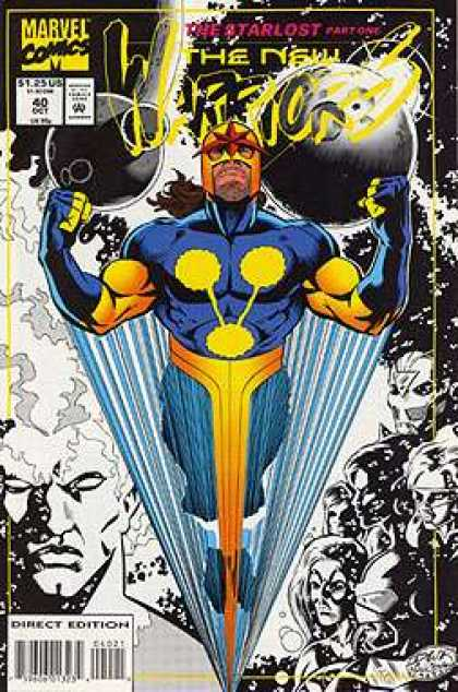New Warriors 40 - Marvel Comics - The Starlost - Part One - Superheroes - Blue And Yellow Costume - Darick Robertson