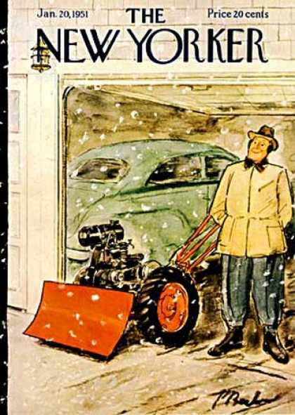 New Yorker 1314 - Plow - Car - Garage - Snow
