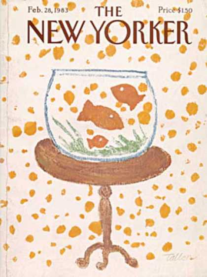 New Yorker 2879 - Fish - Fish Bowl