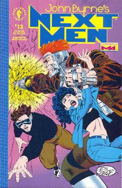 Next Men 13 - Punch - Dark Horse - John Burne - Metal Armor - Redhead