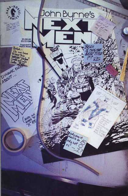 Next Men 15 - John Byrne - Next Men - Dark Horse Comics - Sketches - Ben Is This The Best Title