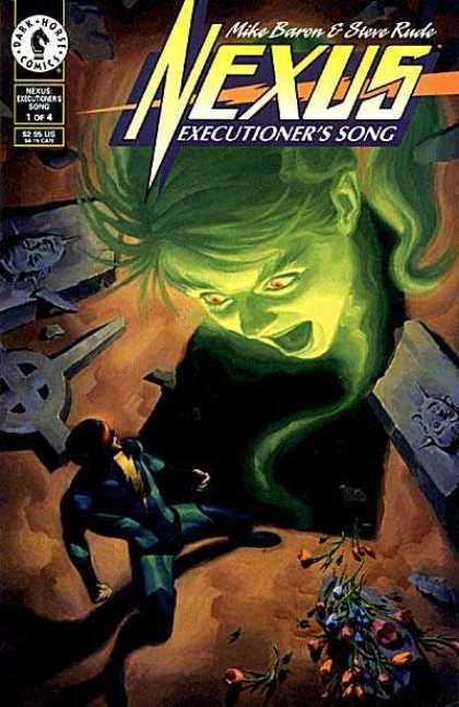 Nexus: Executioner's Song 1 - Mike Baron - Steve Rude - Dark Horse - Green - Face - Steve Rude