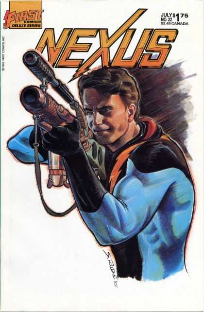 Nexus 22 - First Comics - Gun - Weapon - July - Man - Steve Rude