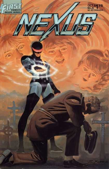 Nexus 25 - First Comics - Deluxe Series - Cemetary - Death - Military - Steve Rude