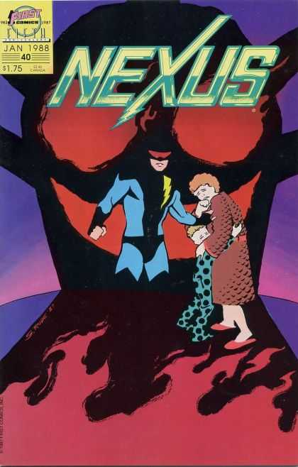 Nexus 40 - First - Jan 1988 - Man - Woman - Superhero - Steve Rude