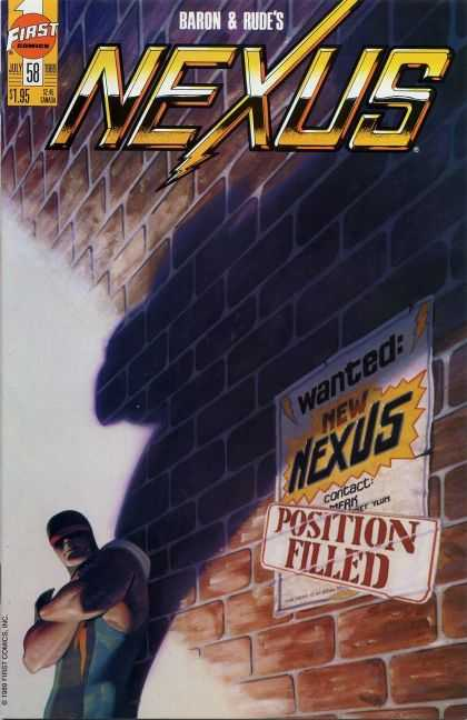 Nexus 58 - Wanted New Nexus Position Filled - First Comics - July - Issue 58 - Usd 195 - Steve Rude