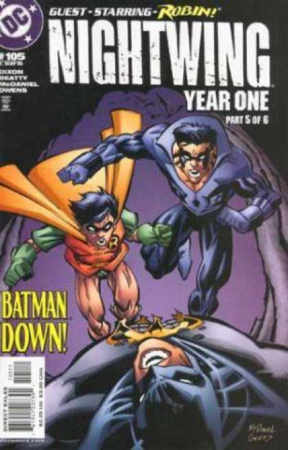 Nightwing 105 - Dc - Guest - Robin - Year One - Batman Down