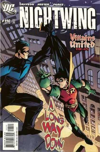 Nightwing 110 - Grayson - Hester - Parks - Villains - A Long Way Down - Phil Hester