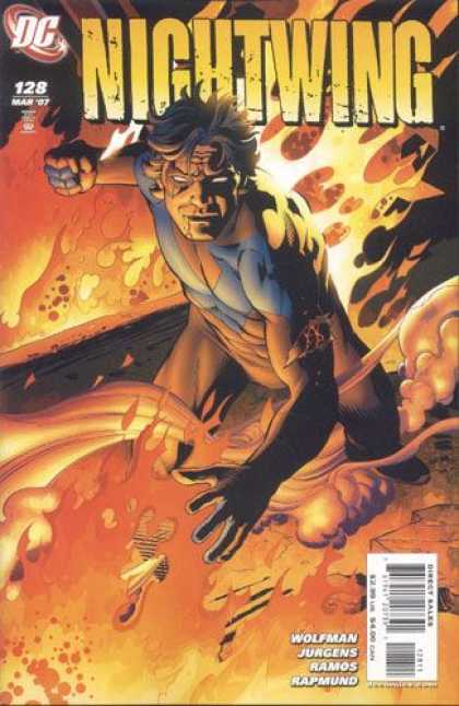 Nightwing 128 - Fire - Blue Vest - Fist - Dc - 128