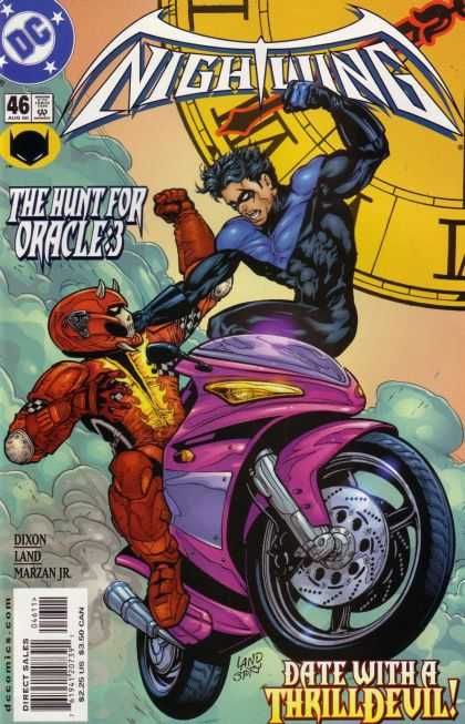 Nightwing 46 - The Hunt For Oracles - Clock - Battle - Byke - Costumes