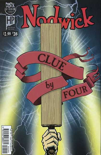 Nodwick 28 - Clue By Four - Dork Storm - Board - Night - Lightning - Aaron Williams