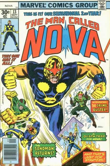Nova 13 - Marvel Comics Group - 30c - 13 Sept 02352 - The Sandman Returns - Crime Buster - Alex Maleev, Richard Buckler