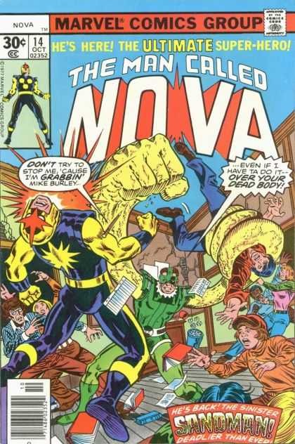 Nova 14 - Sandman - Mike Burley - Books - School - Chalk Board - Alex Maleev, George Perez