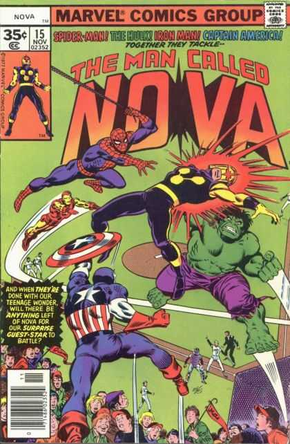 Nova 15 - Spider-man - The Hulk - Iron Man - Caption America - Teenage Wonder - Alex Maleev, John Buscema