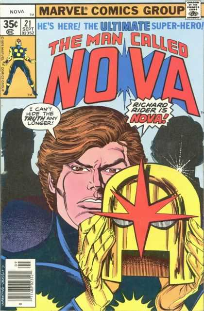Nova 21 - Marvel Comics Nova - Richard Rider - Old Comic Nova - Super Hero Richard Rider - Gold Helmet With Red Star - Adi Granov, Terry Austin