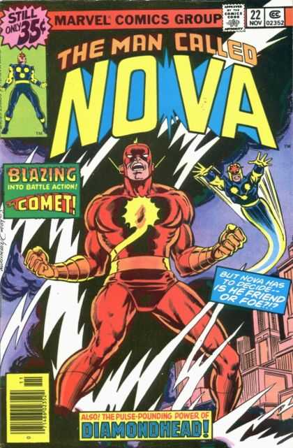 Nova 22 - Blazing Into Action - Comet - Friend Or Foe - Diamondhead - Marvel - Dave Cockrum, Josef Rubinstein
