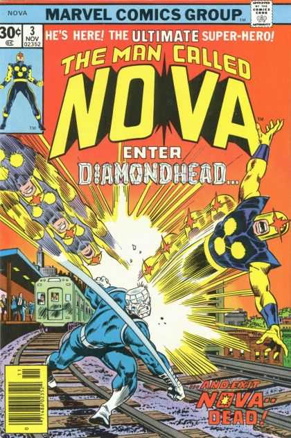 Nova 3 - Diamondhead - Ultimate Super Hero - Nova Dead - Train - Flying - Adi Granov, Sal Buscema