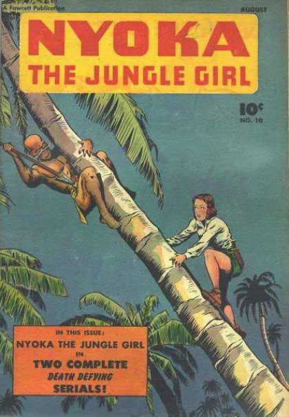 Nyoka the Jungle Girl 10 - Palm - Woman - Spear - Serial - In This Issue