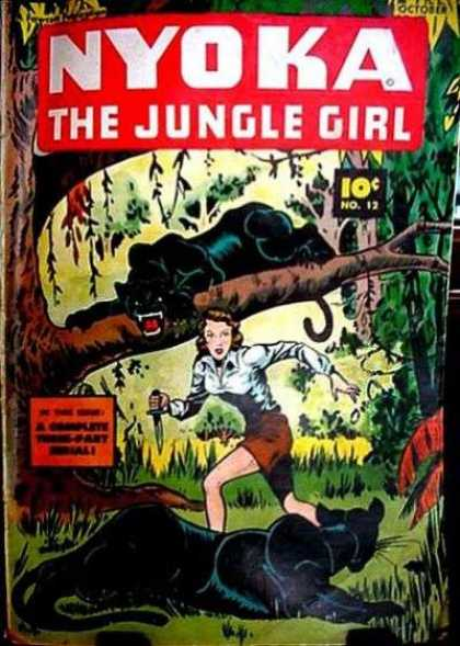 Nyoka the Jungle Girl 12 - Tree - Knife - Tigers - One Girl - Forest