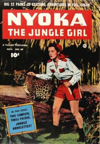 Nyoka the Jungle Girl 49 - Jungle Girl - 52 Page Adventure - Number 49 - Girl With Leopard On The Front - November Issue