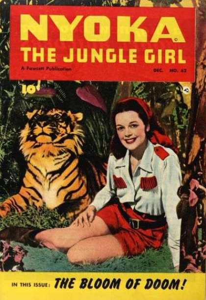 Nyoka the Jungle Girl 62 - Lady - Tiger - Forest - Grass - Trees