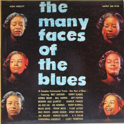 Oddest Album Covers - <<The Many Faces of the Blues>>