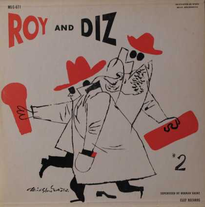Oddest Album Covers - <<Roy and Diz and David Stone Martin on Clef>>