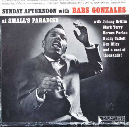 Oddest Album Covers - <<The expubident Babs Gonzales>>