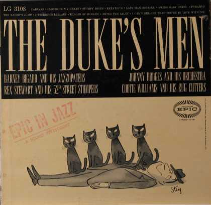 Oddest Album Covers - <<William Steig The Duke's Men on Epic>>