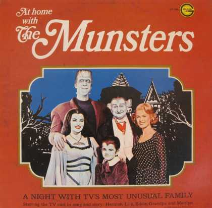 Oddest Album Covers - <<At home with The Munsters>>