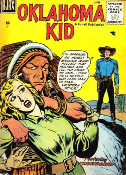 Oklahoma Kid 1 - Native American - Cowboy - Woman - Hostage - Desert